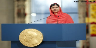 Malala Addressing the Nobel Prize Distribution Ceremony